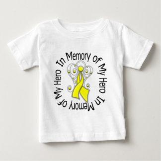 In Memory of My Hero Bladder Cancer Angel Wings v2 Tshirt