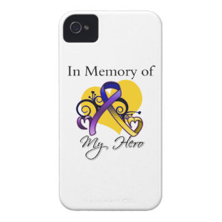 In Memory of My Hero - Bladder Cancer iPhone 4 Case-Mate Case