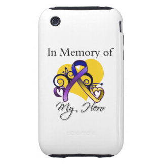 In Memory of My Hero - Bladder Cancer iPhone 3 Tough Case