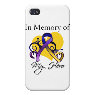 In Memory of My Hero - Bladder Cancer iPhone 4/4S Case