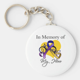 In Memory of My Hero - Bladder Cancer Keychain
