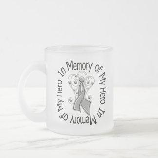 In Memory of My Hero Brain Cancer Angel Wings Coffee Mugs