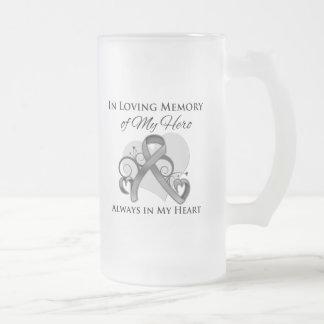 In Memory of My Hero - Brain Cancer Mugs