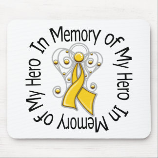 In Memory of My Hero Childhood Cancer Angel Wings Mouse Pad