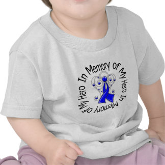 In Memory of My Hero Colon Cancer Angel Wings Tshirts