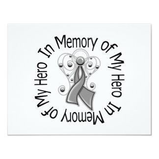 In Memory of My Hero Diabetes Angel Wings 4.25x5.5 Paper Invitation Card
