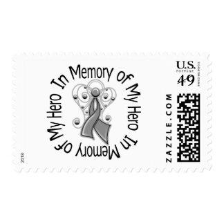 In Memory of My Hero Diabetes Angel Wings Stamp