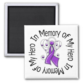 In Memory of My Hero Domestic Violence Refrigerator Magnets