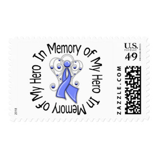 In Memory of My Hero Esophageal Cancer Angel Wings Stamps