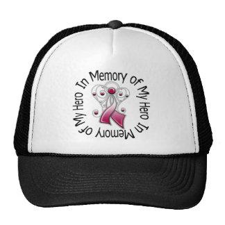 In Memory of My Hero Head Neck Cancer Angel Wings Mesh Hats