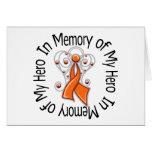 In Memory of My Hero Kidney Cancer Angel Wings v2 Card