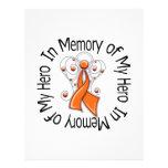 In Memory of My Hero Kidney Cancer Angel Wings v2 Full Color Flyer