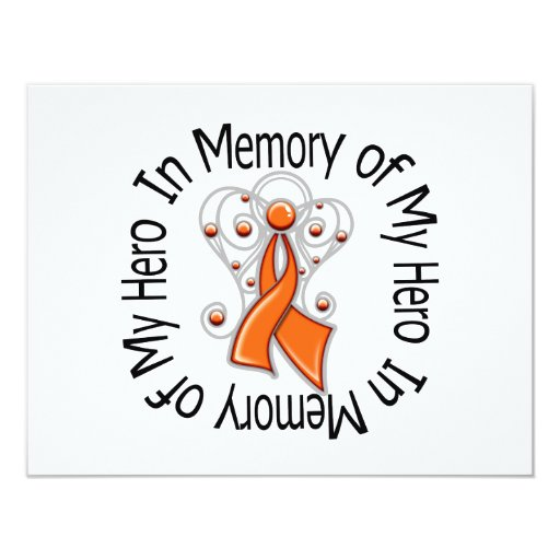 In Memory of My Hero Kidney Cancer Angel Wings v2 Announcements