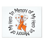 In Memory of My Hero Kidney Cancer Angel Wings v2 Invitations