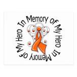 In Memory of My Hero Kidney Cancer Angel Wings v2 Postcards