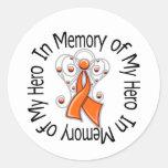 In Memory of My Hero Kidney Cancer Angel Wings v2 Sticker