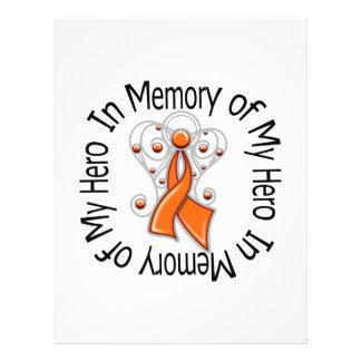 In Memory of My Hero Leukemia Angel Wings Full Color Flyer