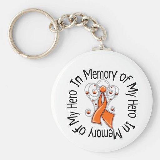 In Memory of My Hero Leukemia Angel Wings Keychains