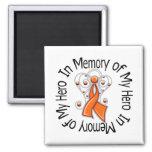 In Memory of My Hero Leukemia Angel Wings Magnet
