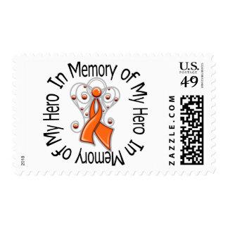 In Memory of My Hero Leukemia Angel Wings Stamp