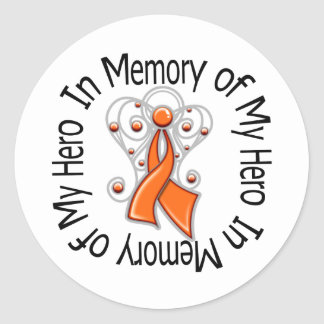 In Memory of My Hero Leukemia Angel Wings Stickers