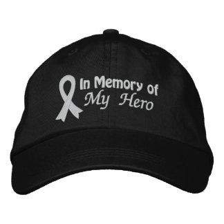 In Memory of My Hero - Lung Cancer Baseball Cap