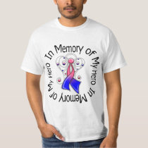 In Memory of My Hero Male Breast Cancer Angel Wing T-Shirt