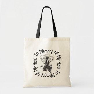 In Memory of My Hero Melanoma Angel Wings Budget Tote Bag