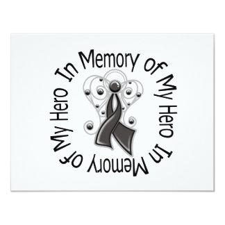 In Memory of My Hero Melanoma Angel Wings Custom Announcements