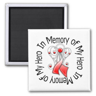 In Memory of My Hero Oral Cancer Angel Wings Magnets