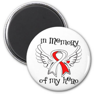 In Memory of My Hero Oral Cancer Support Fridge Magnets