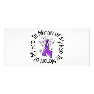 In Memory of My Hero Pancreatic Cancer Angel Wings Rack Card