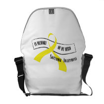 In Memory Of My Hero Sarcoma Awareness Courier Bag