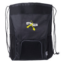 In Memory Of My Hero Sarcoma Awareness Drawstring Backpack