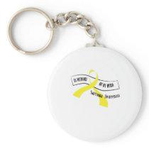 In Memory Of My Hero Sarcoma Awareness Keychain