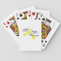 In Memory Of My Hero Sarcoma Awareness Playing Cards
