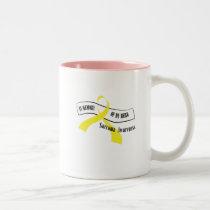 In Memory Of My Hero Sarcoma Awareness Two-Tone Coffee Mug