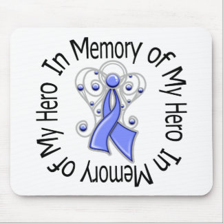 In Memory of My Hero Stomach Cancer Angel Wings Mouse Pad