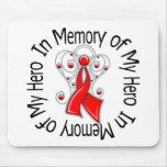 In Memory of My Hero Stroke Angel Wings Mousepad