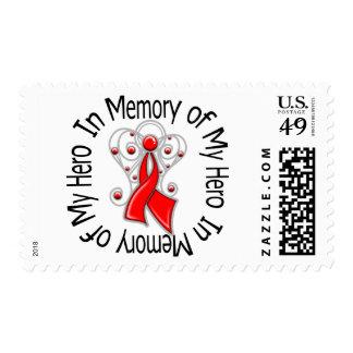 In Memory of My Hero Stroke Angel Wings Postage Stamps
