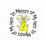 In Memory of My Hero Testicular Cancer Angel Wings Postcard