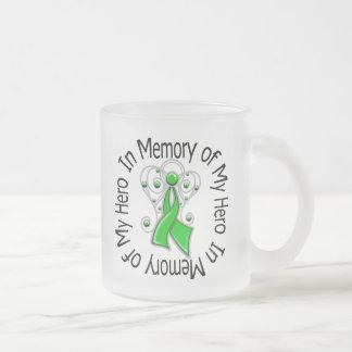 In Memory of My Hero Traumatic Brain Injury 10 Oz Frosted Glass Coffee Mug