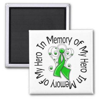 In Memory of My Hero Traumatic Brain Injury 2 Inch Square Magnet