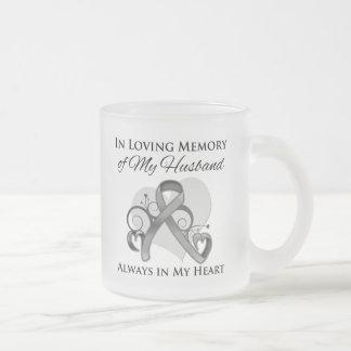 In Memory of My Husband - Brain Cancer Coffee Mug