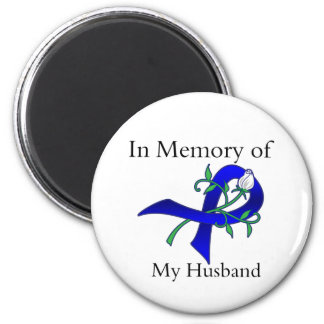 In Memory of My Husband - Colon Cancer 2 Inch Round Magnet