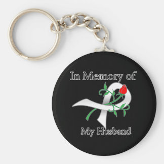In Memory of My Husband - Lung Cancer Keychain