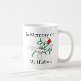 In Memory of My Husband - Lung Cancer Coffee Mugs