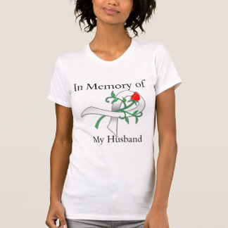 In Memory of My Husband - Lung Cancer T Shirts