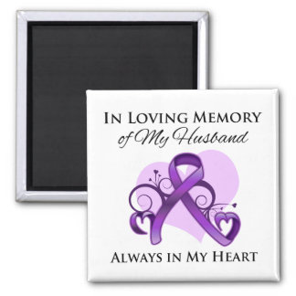 In Memory of My Husband - Pancreatic Cancer 2 Inch Square Magnet