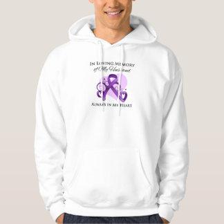 In Memory of My Husband - Pancreatic Cancer Hoodie